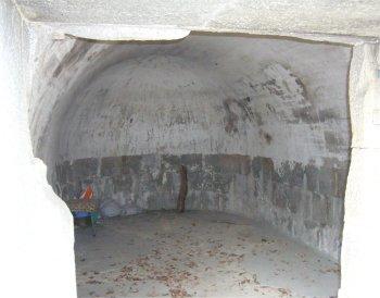 呉ヘリテージ、大空山砲側庫の内部