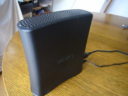 B社製USB外付けHDD
