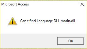 Can't find Language DLL msain.dll