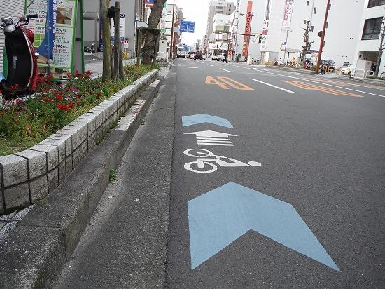 自転車走行表示