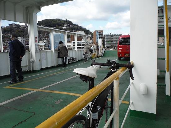 尾道渡船にて