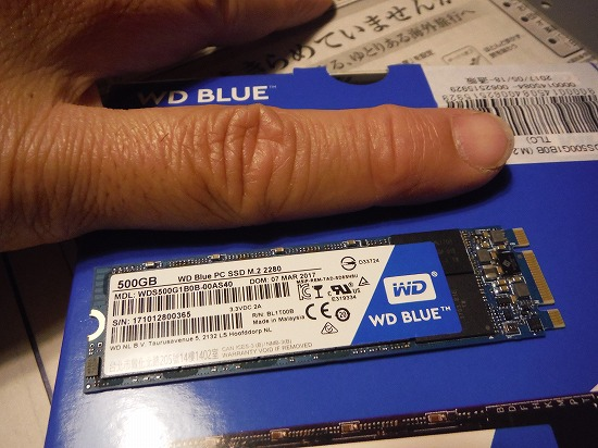 WD Blue M.2 SSD 500GB