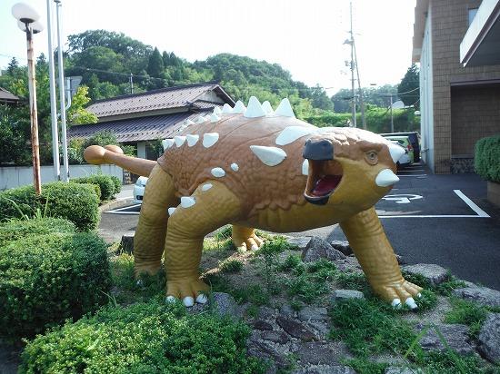 恐竜に遭遇